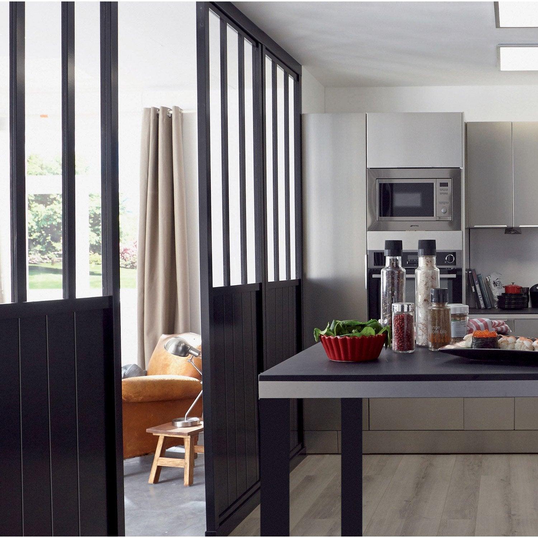 Cuisine vitre atelier verrire style atelier duartiste for Cloison amovible atelier noir