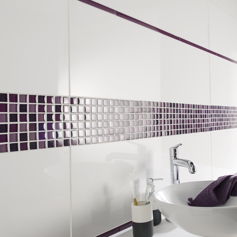 Faence Mur Blanc Brillant Purity L30 X L90 Cm