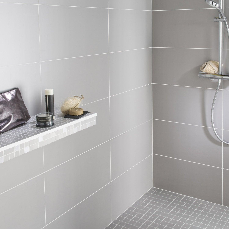 fa239ence mur gris purity l30 x l60 cm leroy merlin