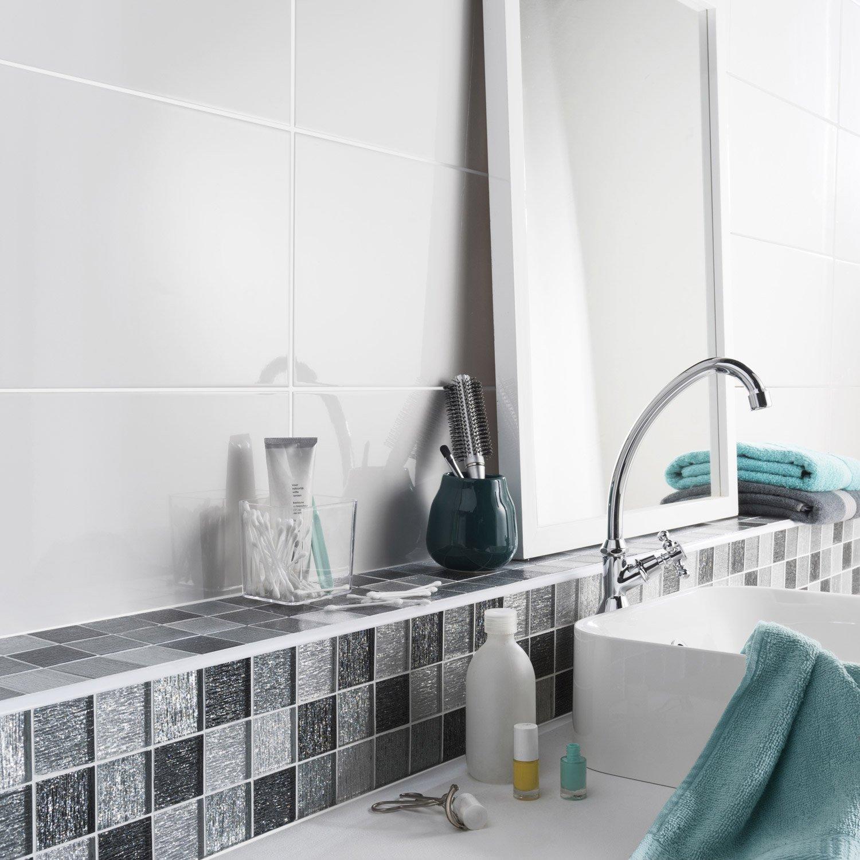 Fa Ence Mur Blanc Tonic L 25 X L 50 Cm Leroy Merlin