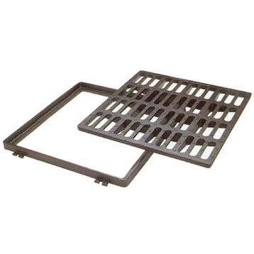 Grille carrée fonte l.40 x L.40 cm JARDIBRIC