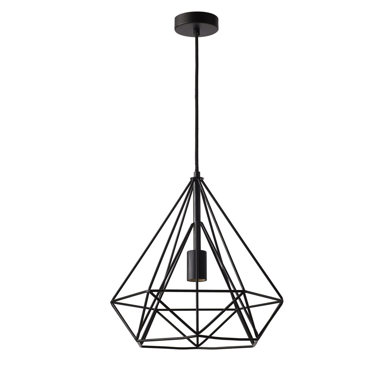 suspension e27 design byron m tal noir 1 x 60 w inspire leroy merlin. Black Bedroom Furniture Sets. Home Design Ideas