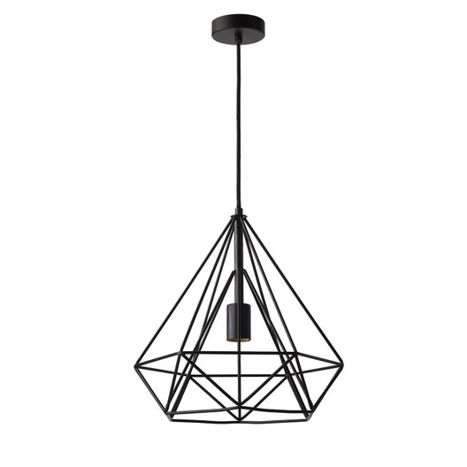 Suspension e27 design byron métal noir 1 x 60 w inspire