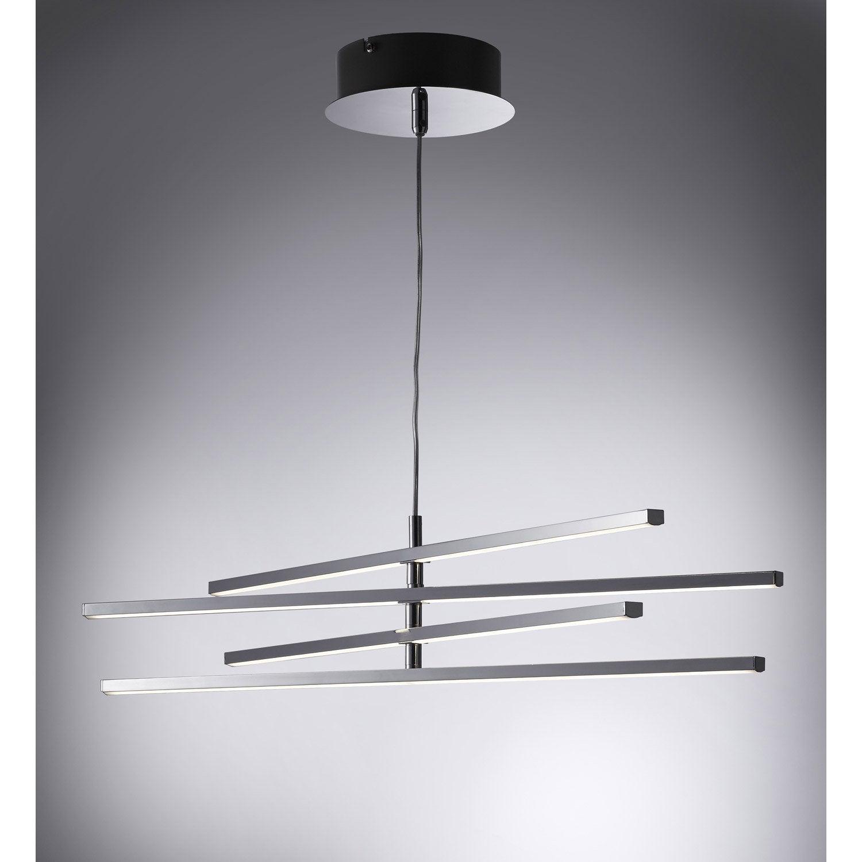 Suspension, led intégrée design Concord plastique argent 4 x 6 W INSPIRE
