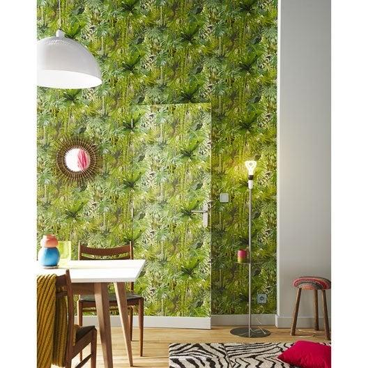 Papier peint papier Mur vegetal vert
