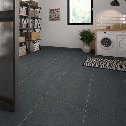 carrelage sol et mur noir effet b ton market x. Black Bedroom Furniture Sets. Home Design Ideas