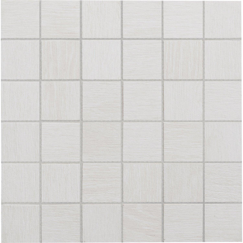 mosa que sol et mur lodge blanc 5 x 5 cm leroy merlin. Black Bedroom Furniture Sets. Home Design Ideas