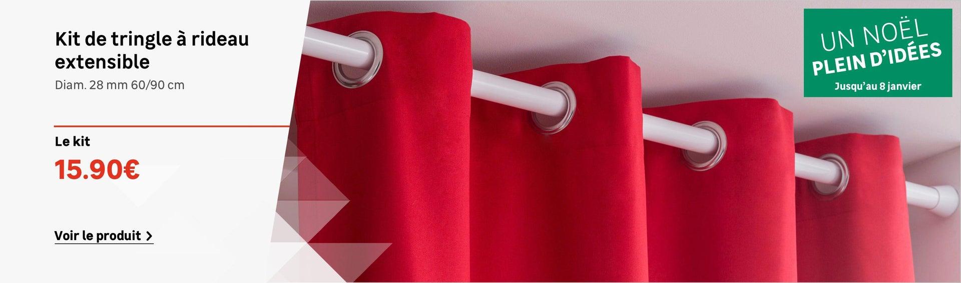Kit de tringle à rideau extensible