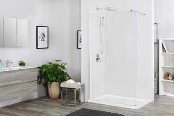 paroi de douche litalienne l90 cm verre transparent 6 mm - Cloison Verre Salle De Bain