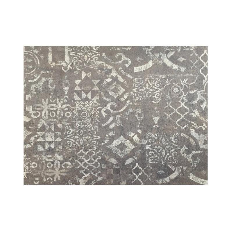 Crédence Stratifié Carreaux De Ciment Clair Foncé H 64 Cm X Ep 9 Mm X L 300 Cm