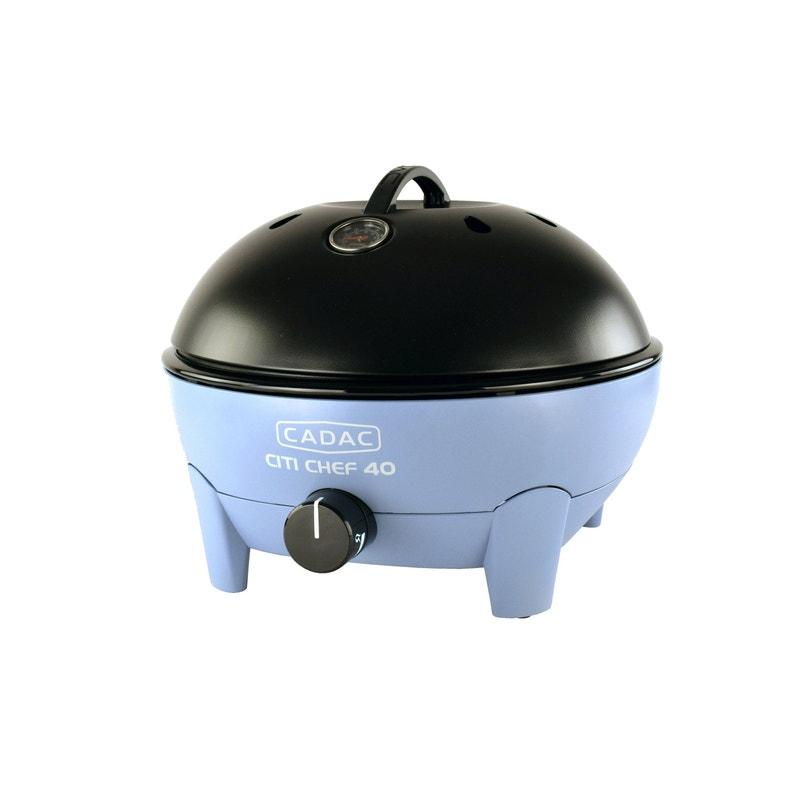 Barbecue Au Gaz Cadac Citi Chef 40 Couvercle Noir Et Cuve Bleu Ciel