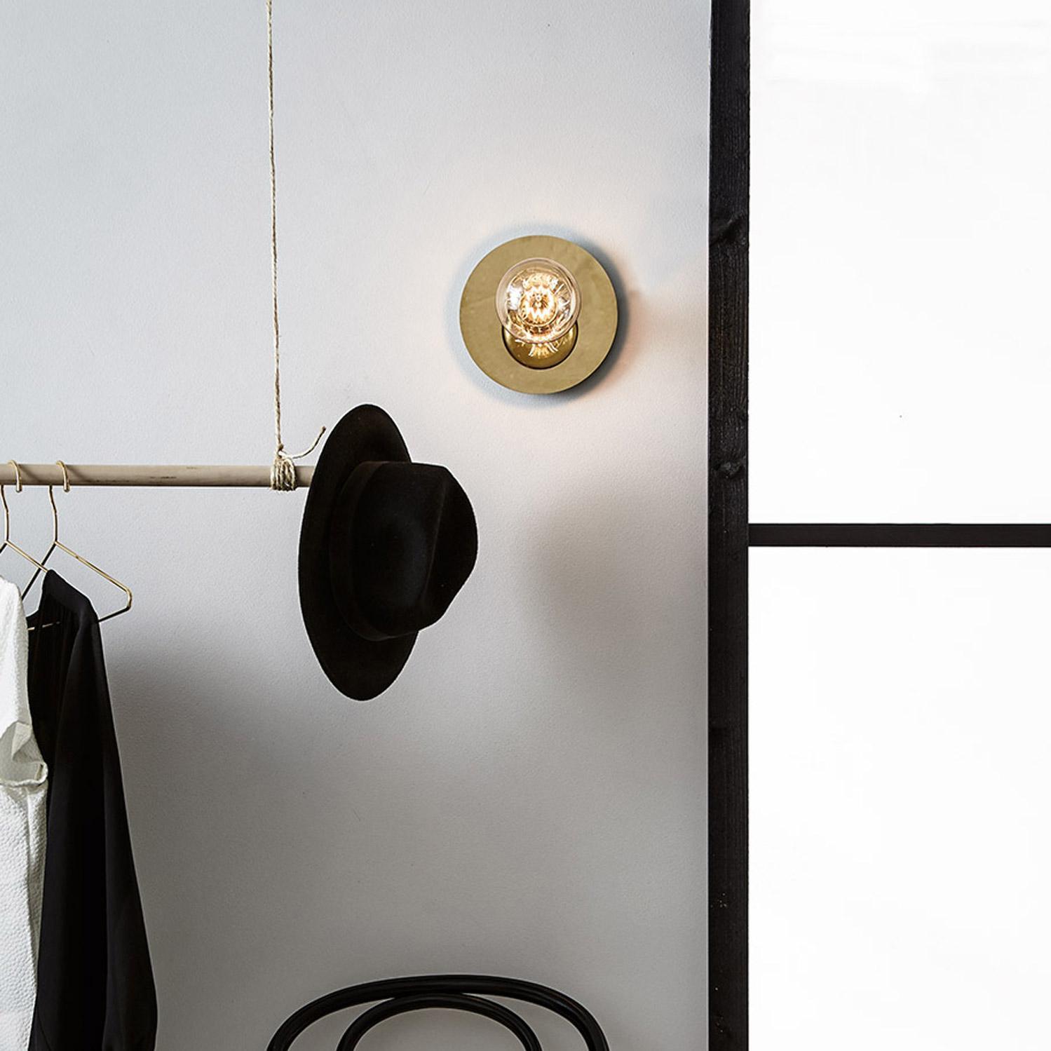Applique, vintage métal doré MARKSLOJD Disc 1 lumière lumière(s)