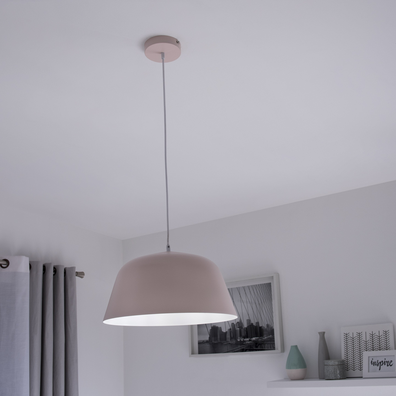 Suspension, scandinave métal rose INSPIRE Bells 1 lumière(s) D.40.0 cm