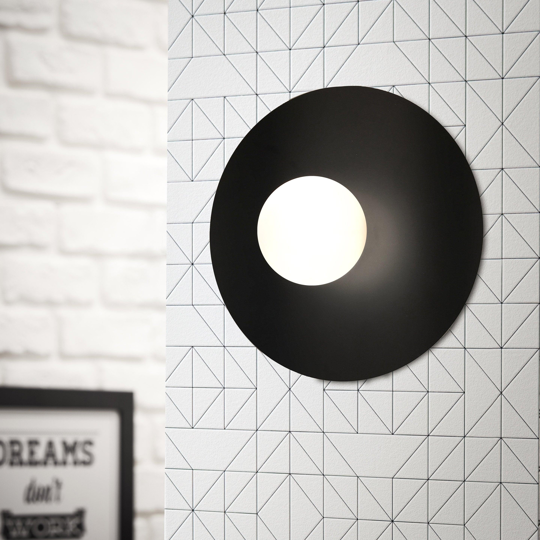 Applique métal noir BRILLIANT Zon 1 lumière(s)