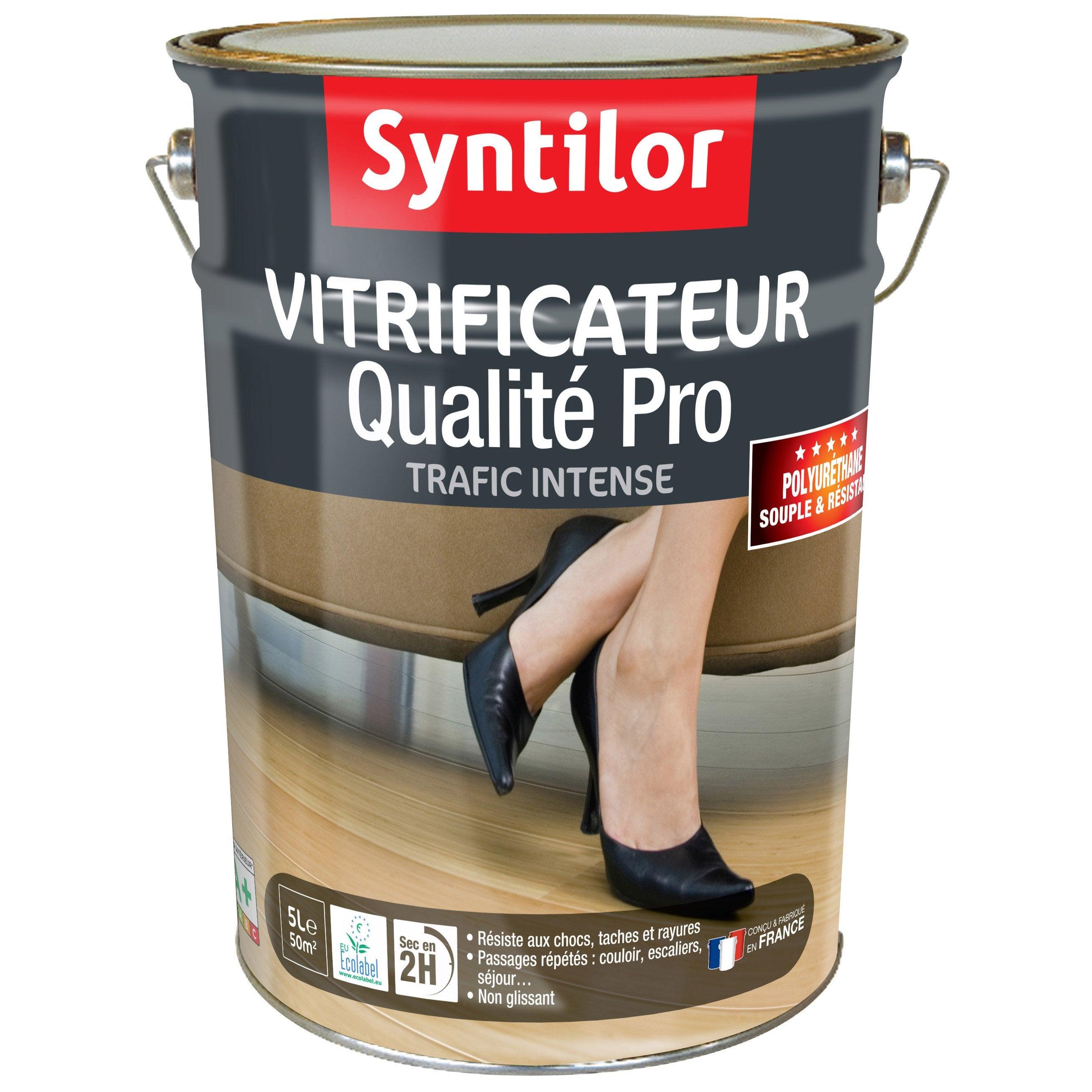 Vernis Ou Vitrificateur Sur Un Meuble Peint vitrificateur parquet ultra résistant syntilor, incolore, 5 l