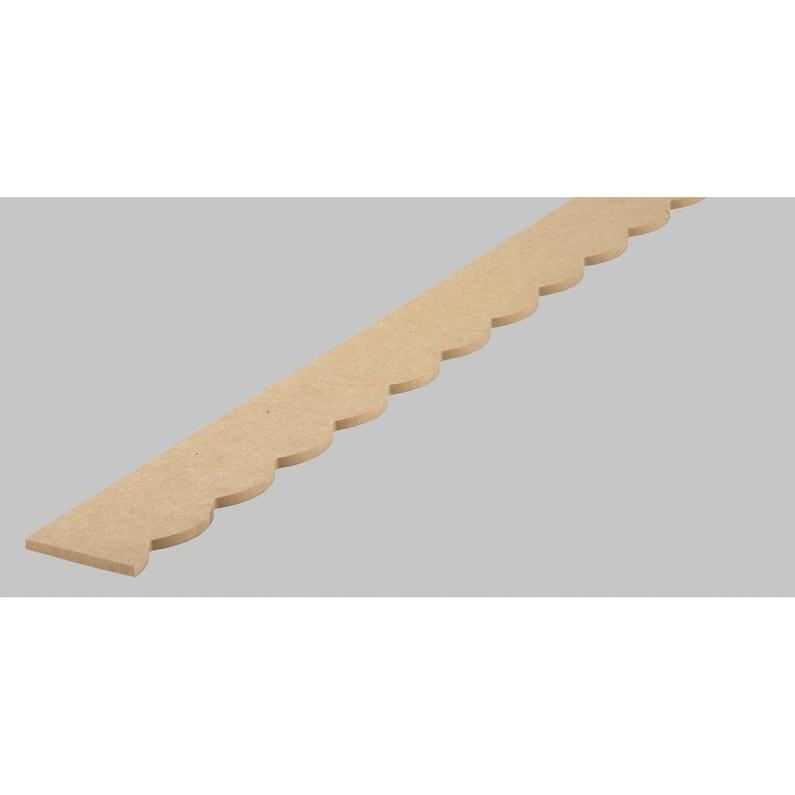 Frise Savoie En Mdf Brut Long 198cm Section 7x6mm