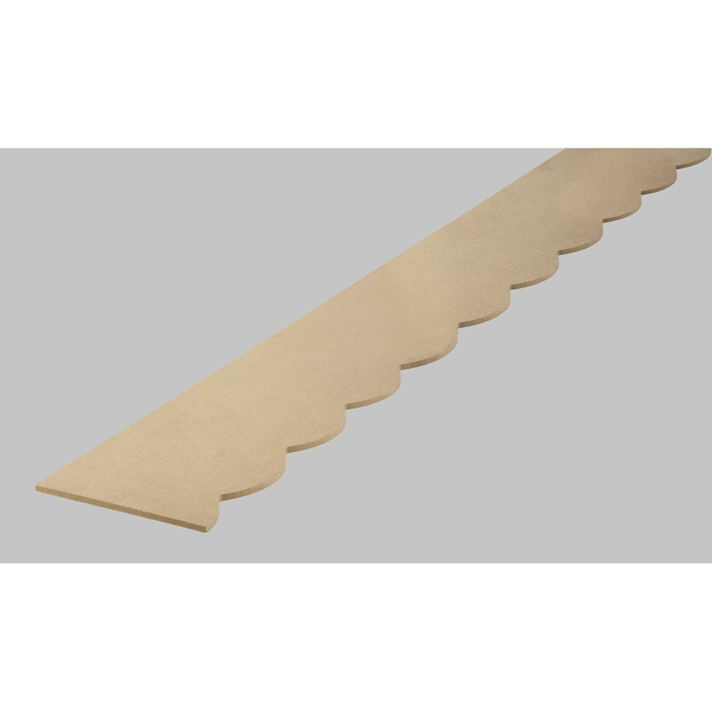 Frise Savoie En Mdf Brut Long 198cm Section 18x6mm