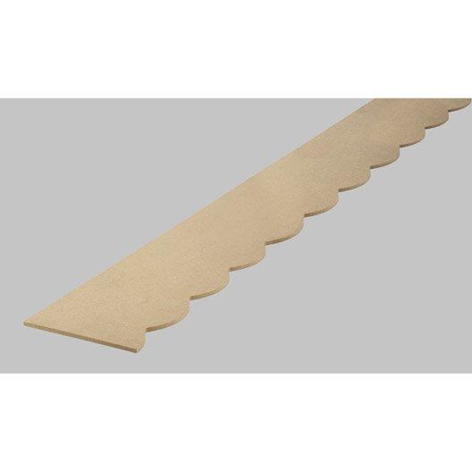 Frise savoie en mdf brut long 198cm section 18x6mm - Leroy merlin tableros mdf ...