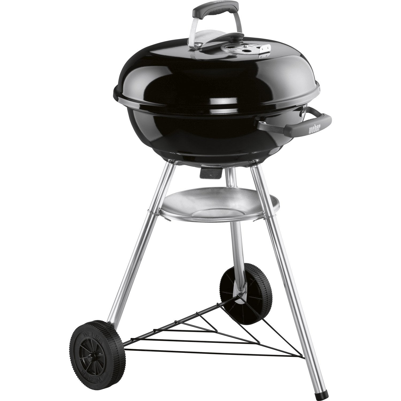 Barbecue au charbon de bois WEBER Compact kettle 47, noir