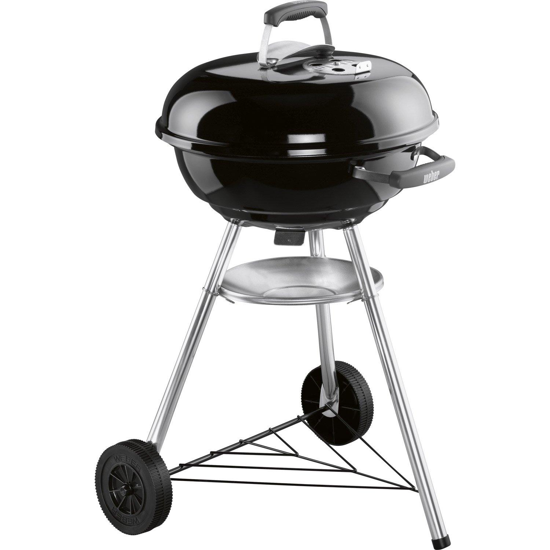 barbecue au charbon de bois weber compact kettle 47 noir. Black Bedroom Furniture Sets. Home Design Ideas