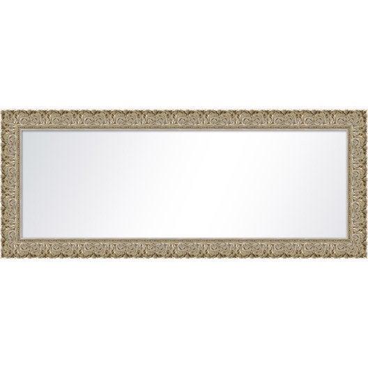 Miroir orn argent x cm leroy merlin for Miroir largeur 50 cm