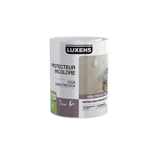 Peinture effet sable pr cieux luxens incolore 1 l for Peinture sable precieux luxens