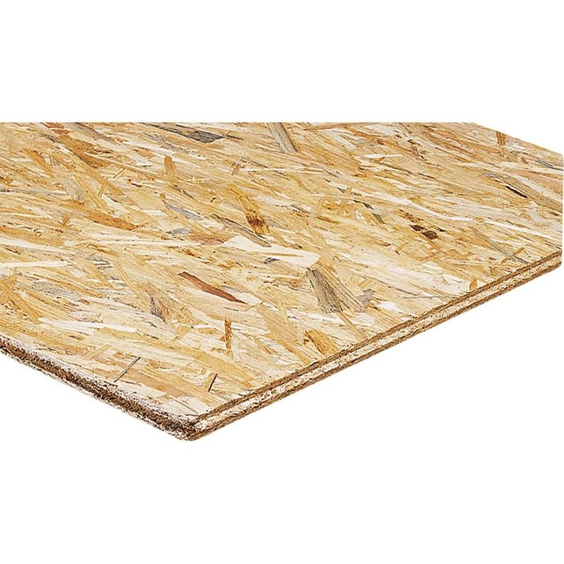 Incroyable Dalle de plancher osb 3 3 plis épicéa naturel, Ep.18 mm x L.250 x PR-62