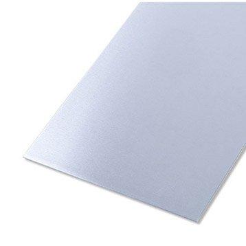 Tôle lisse acier inoxydable brut, L.100 x l.60 cm x Ep.0.5 mm