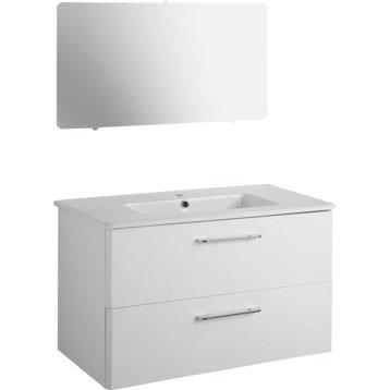 Meuble sous vasque spirit blanc 2 tiroirs - Meuble sous vasque salle de bain leroy merlin ...