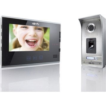 Interphone visiophone SOMFY V600 noir