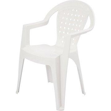 Chaise et fauteuil de jardin salon de jardin table et for Fauteuil de jardin blanc