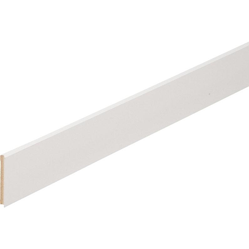 Plinthe Médium Mdf Droite Revêtu Mélaminé Blanc Brillant 10 X 70 Mm L22 M
