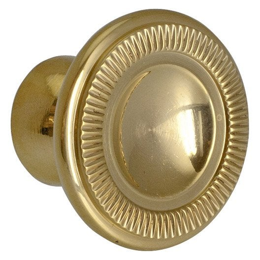 Bouton de meuble empire laiton brillant leroy merlin - Bouton de meuble design ...