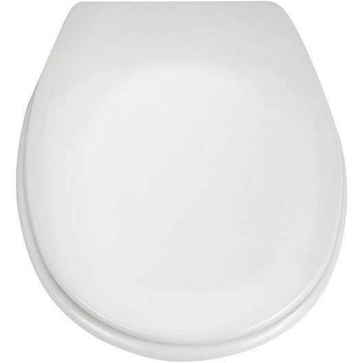 abattant frein de chute blanc plastique thermodur sensea sparta leroy merlin. Black Bedroom Furniture Sets. Home Design Ideas