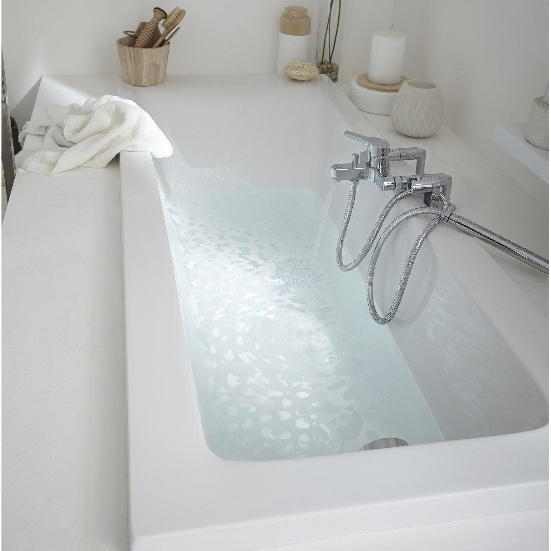 Baignoire Rectangulaire L 170x L 70 Cm Blanc Sensea Access Design