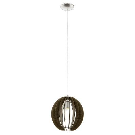 Suspension nature cossano m tal marron 1 x 60 w eglo for Suspension nature