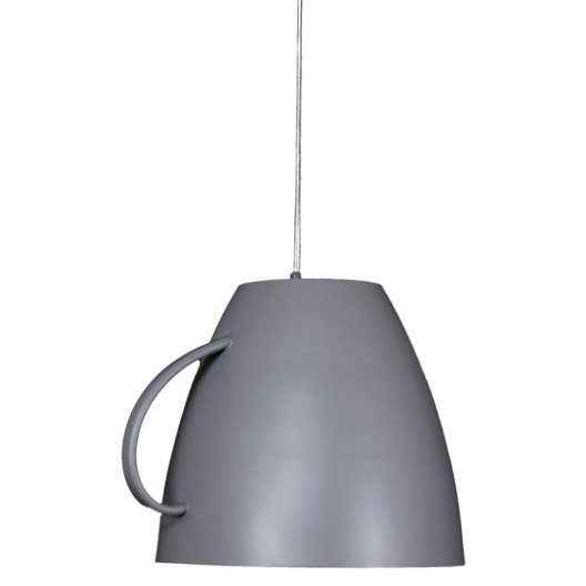 Suspension classique dej m tal gris 1 x 60 w sampa helios for Suspension electrique cuisine