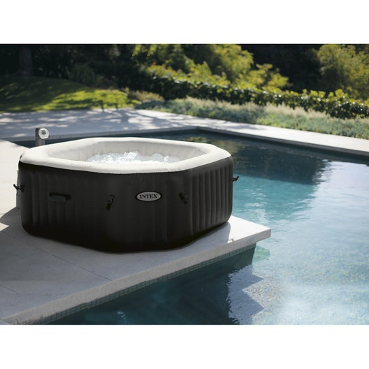 Spa Gonflable Intex Pure Spa Octogonale 6 Places Assises Leroy Merlin