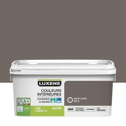 Peinture couleurs int rieures luxens brun taupe 3 2 5 l leroy merlin for Peintures interieures couleurs