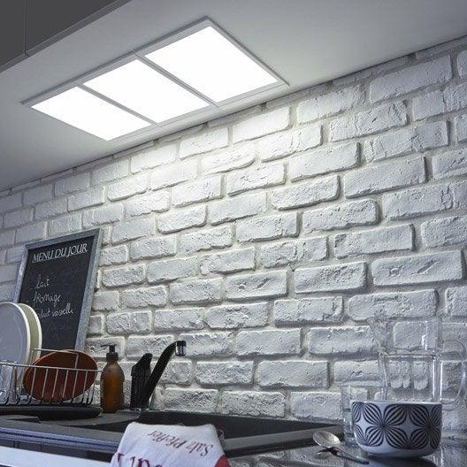 panneau led rio led 1 x 5 w blanc froid leroy merlin. Black Bedroom Furniture Sets. Home Design Ideas