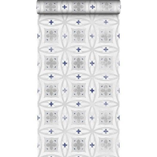 papier peint intiss carreaux de ciment leroy merlin. Black Bedroom Furniture Sets. Home Design Ideas