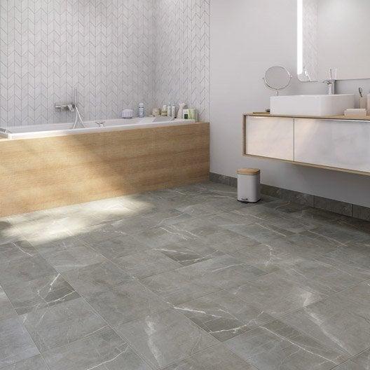 free carrelage sol et mur gris effet marbre rimini l x l cm with tablette radiateur marbre leroy. Black Bedroom Furniture Sets. Home Design Ideas