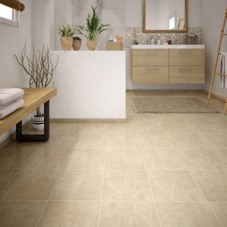 carrelage sol et mur marfil effet marbre rimini x cm leroy merlin. Black Bedroom Furniture Sets. Home Design Ideas