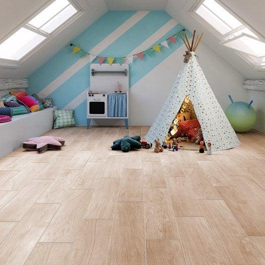 carrelage sol et mur naturel effet bois suomi x cm leroy merlin. Black Bedroom Furniture Sets. Home Design Ideas