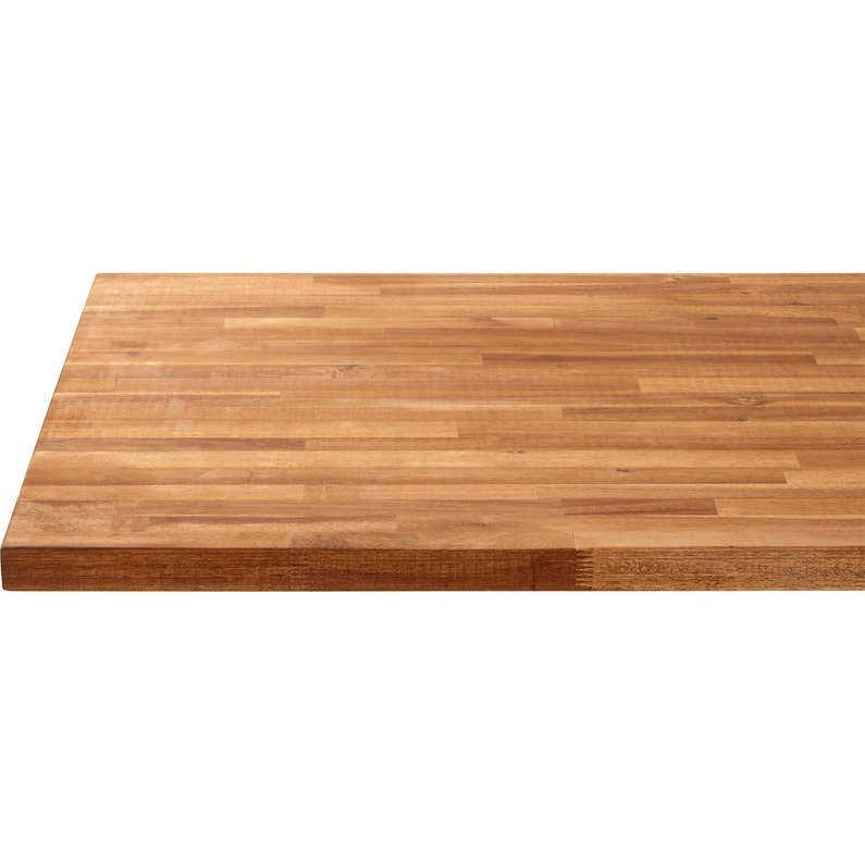 Plan de travail bois Acacia huilé Mat L.250 x P.65 cm, Ep.36 mm ...