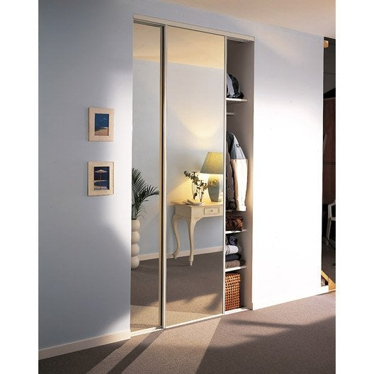 Lot de 2 portes de placard coulissante OPTIMUM l.120 x H.250 cm