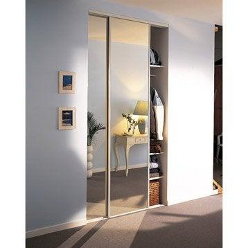 Lot de 2 portes de placard coulissante OPTIMUM l.120 x H.250 cm