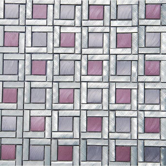 Mosaïque mur Square violet