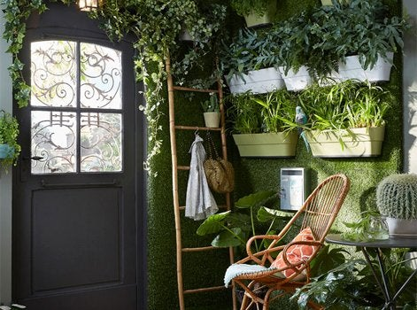 la maison se met au vert leroy merlin. Black Bedroom Furniture Sets. Home Design Ideas
