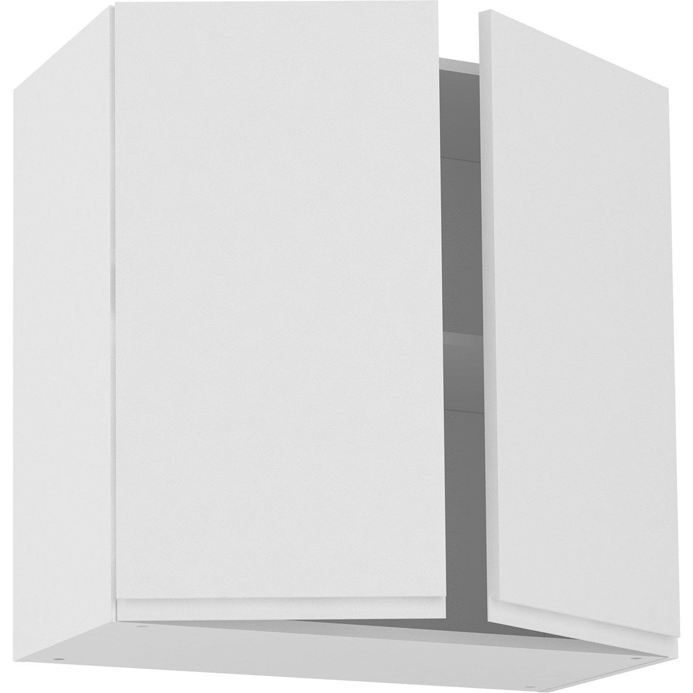 Meuble haut de cuisine Tokyo blanc, 10 portes H10xl10